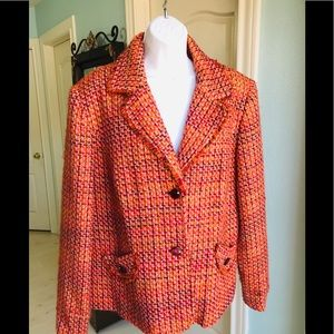 Requirements Tweed Blazer Career Plus Size 18Lined